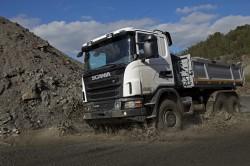Scania isi prezinta gama de camioane off road la Intermat 2012