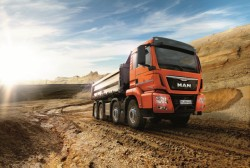 MAN Trucks & Bus will introduce their Euro 6 construction site trucks at the 2013 Bauma !