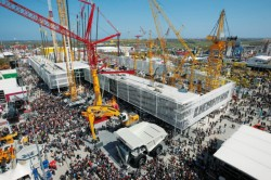 Liebherr will introduce their cranes, excavators, loaders and other machinery at the 2013 Bauma !