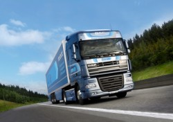"""Der DAF XF105 ATe hat den Preis """"Fleet Truck of the Year 2013"""" gewonnen, Flotte LKW des Jahres"""