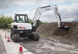 Novas minis escavadoras compactas E62 e E85 de Bobcat