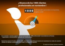 ¡Europe Camions Interactive alcanza los 1000 clientes profesionales!