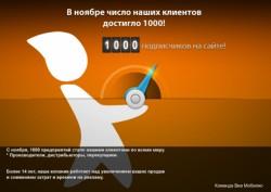 Наша компания, Europe Camions Interactive, создатель сети сайтов Виа Мобилис отмечает подписание 1000-го  контракта!