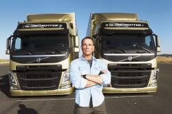 Jean-Claude Van Damme does the split between two Volvo trucks