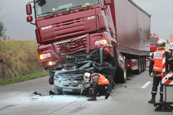 Accidents poids lourds - bilan 2013 : des chiffres en baisse