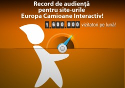 1,6 milioane de vizitatori pe lună pentru site-urile Europa Camioane Interactiv!