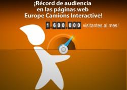 ¡1,6 millones de visitantes al mes en las páginas web Europe Camions Interactive!