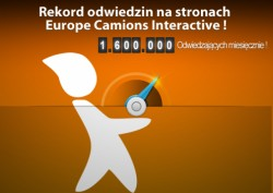 1,6 miliona odwiedzających strony Europe Camions Interactive miesięcznie !