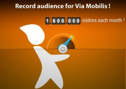 1.6 million visitors each month on the Via Mobilis website network !