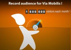 1.6 million visitors each month on the Via Mobilis website network !