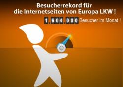 1,6 Million Besucher im Monat für die Internetseiten von Europe LKW !