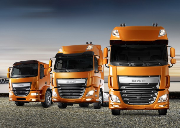 Demonstration of DAF's complete range of new LF, CF and XF Euro 6 models across the UK