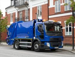 Volvo Trucks presenteert zijn vrachtwagen FE GNC die enkel op lng rijdt.