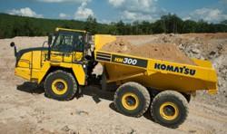 New Komatsu HM300-5 articulated dumper: a connected dumper for the European market