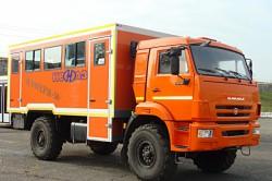 Вахтовый автобус  НЕФАЗ выдержит любую зиму