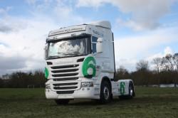Démonstration de la gamme moteur Euro 6 par Scania France