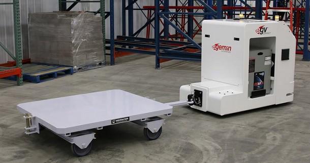 Neues ferngesteuertes Kompakt-Transportfahrzeug E'gv von Egemin