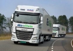 « Eco Twin » : le train routier autonome de DAF et TNO