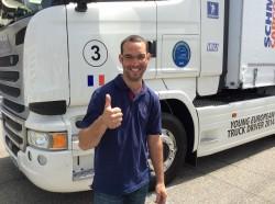 Stéphen Lacombe concourt pour le titre de jeune conducteur européen Scania 2015