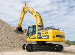 Os últimos modelos de escavadoras híbridas da Komatsu, Hitachi et Caterpillar