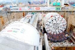 Bouygues lance le plus grand tunnelier du monde à Hong-Kong