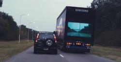 Zur Vermeidung von Umfällen startet Samsung das « Safety Truck » System