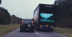 """Samsung inventa el sistema """"Safety Truck"""" para evitar los accidentes"""