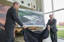 Eine neue Lackiererei in der belgischen Daf-Fabrik