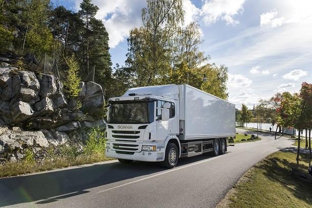 Scania P320, гибридный грузовик для доставки по городу