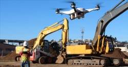 Revolution in the construction equipment world : autonomous machines guided by drones !