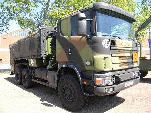 Les camions militaires Scania