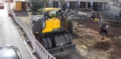 Volvo CE presenta il suo nuovo escavatore gommato EWR 150 E