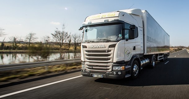 An autonomy of 1 196 km for the Scania GNL