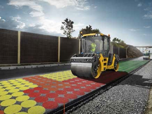 Compact Assist de Volvo CE : os cálculos de densidade de asfalto em tempo real