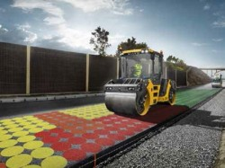 Compact Assist van Volvo CE : berekening van de dichtheid van het asfalt in real-time