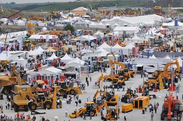 A feira Hillhead em ingleterra fez o cheio de maquinaria
