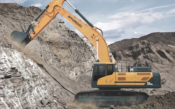 Hyundai apresente sua nova escavadora sobre rastos : a HX480 L