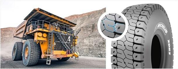 3 innovations sur les nouveaux pneus Michelin XDR3 pour tombereaux