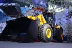 Fokus auf den Lader VL81 A des chinesischen Baumaschinenherstellers LiuGong