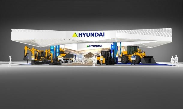 Premiere für Hyundai Baumaschinen auf der SaMoTer 2017 in Verona