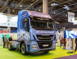 Iveco displays at SITL their new Stralis using LNG and CNG
