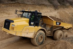 The equipments of the new Caterpillar 745 dumper