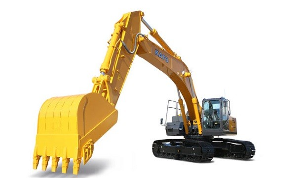Japan : an excavator equipped with MTU engine by Rolls-Royce