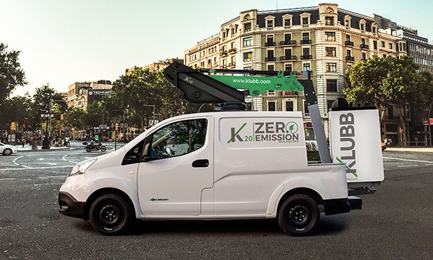 Klubb launches their 100% electric van mounted lift
