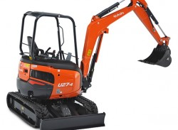 U27-4, the Kubota best-selling mini-excavator