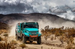 The Team Petronas De Rooy Iveco takes part in the 2018 rallys