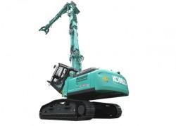 As novas escavadoras de demolição Kobelco no mercado europeu