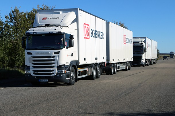Vrachtwagenfabrikanten werken samen voor het testen van multimerkpelotons