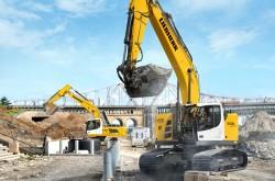 Liebherr stellt seinen neuen Bagger auf der Berner Messe für Baustellenmaschinen aus