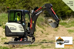 A compact excavator completely electric by Volvo CE